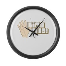 High Five! (2 color) Large Wall Clock