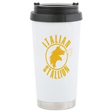 Italian Stallion (yellow prin Ceramic Travel Mug