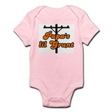 papa's lil grunt orange Infant Bodysuit