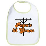 papa's lil grunt orange Bib