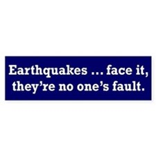 Earthquake Bumper Bumper Sticker