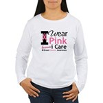 IWearPinkBecauseICare Women's Long Sleeve T-Shirt