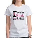 IWearPinkBecauseICare Women's T-Shirt