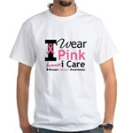 IWearPinkBecauseICare White T-Shirt