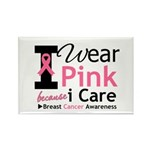 IWearPinkBecauseICare Rectangle Magnet (10 pack)