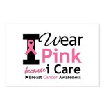 IWearPinkBecauseICare Postcards (Package of 8)