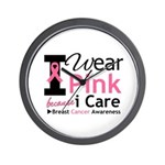 IWearPinkBecauseICare Wall Clock