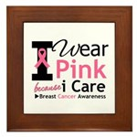 IWearPinkBecauseICare Framed Tile