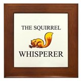 The Squirrel Whisperer Framed Tile