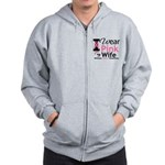 I Wear Pink For My Wife Zip Hoodie