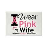 I Wear Pink For My Wife Rectangle Magnet (10 pack)