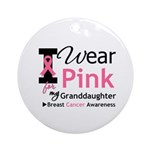 IWearPink Granddaughter Ornament (Round)