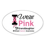 IWearPink Granddaughter Oval Sticker (10 pk)