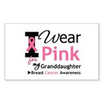IWearPink Granddaughter Rectangle Sticker 10 pk)