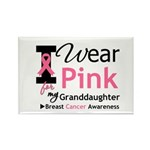 IWearPink Granddaughter Rectangle Magnet (10 pack)