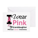 IWearPink Granddaughter Greeting Card