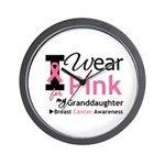 IWearPink Granddaughter Wall Clock