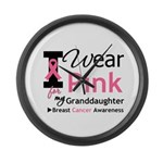 IWearPink Granddaughter Large Wall Clock