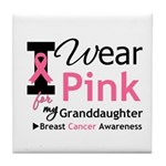 IWearPink Granddaughter Tile Coaster
