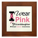 IWearPink Granddaughter Framed Tile