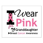 IWearPink Granddaughter Small Poster