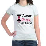 I Wear Pink Girlfriend Jr. Ringer T-Shirt