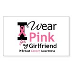I Wear Pink Girlfriend Rectangle Sticker