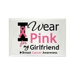 I Wear Pink Girlfriend Rectangle Magnet (10 pack)