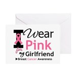 I Wear Pink Girlfriend Greeting Card