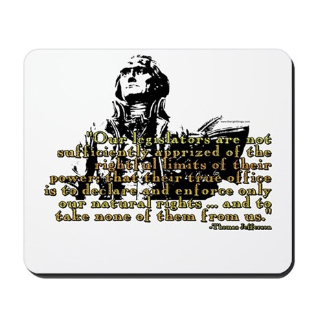 Jefferson Limits On Power Quo Mousepad