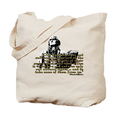 Jefferson Limits On Power Quo Tote Bag