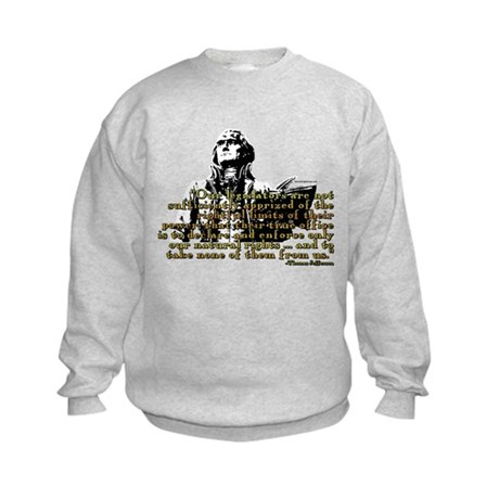 Jefferson Limits On Power Quo Kids Sweatshirt