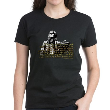 Jefferson Limits On Power Quo Women's Dark T-Shirt