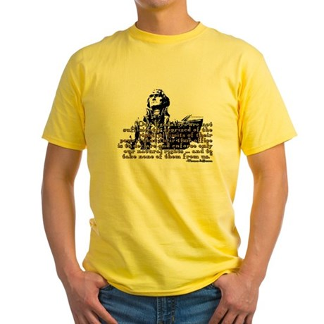 Jefferson Limits On Power Quo Yellow T-Shirt