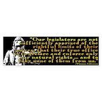 Jefferson Limits On Power Quo Sticker (Bumper 10 p