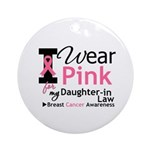 IWearPink Daughter-in-Law Ornament (Round)