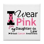 IWearPink Daughter-in-Law Tile Coaster