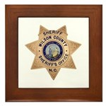 Wilson County Sheriff Framed Tile