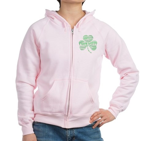 Twilight Shamrock Women's Zip Hoodie