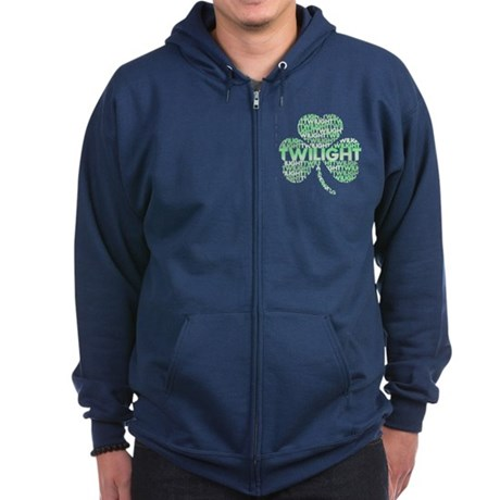 Twilight Shamrock Zip Hoodie (dark)