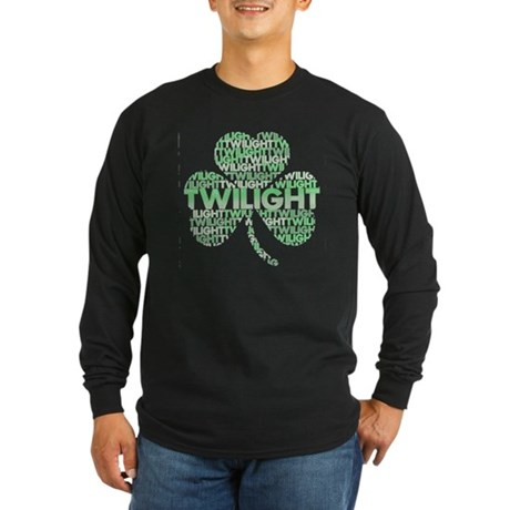 Twilight Shamrock Long Sleeve Dark T-Shirt