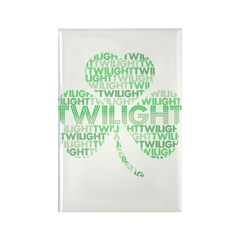 Twilight Shamrock Rectangle Magnet