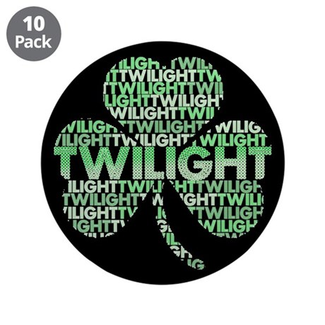Twilight Shamrock 3.5&quot; Button (10 pack)