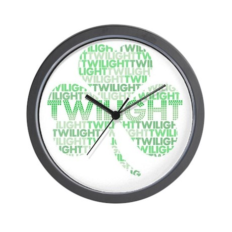 Twilight Shamrock Wall Clock