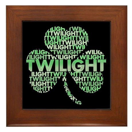 Twilight Shamrock Framed Tile