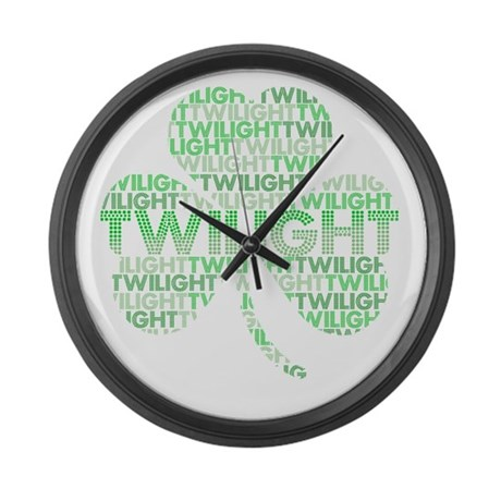 Twilight Shamrock Large Wall Clock