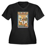 Osiris,Pharoah,Horus Women's Plus Size V-Neck Dark