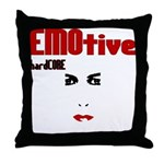 EMOtive hardCORE Throw Pillow