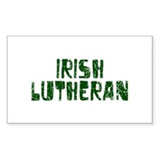 Irish Lutheran Rectangle Decal