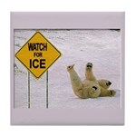 Watch for Ice Tile Coaster